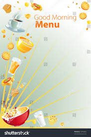 breakfast menu template breakfast menu background template stock vector 73458802