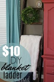 farmhouse style for your home diy blanket ladder to organize and decorate