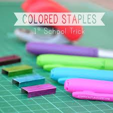 1 School Trick Diy Colored Staples Agus Yornet Blog