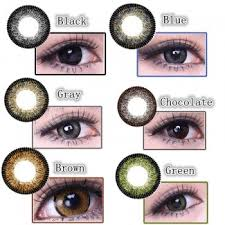 Contact Lenses Colour Chart Coloured Contact Lenses Big Eyes Vivi 1 Year Pair Black Brown Grey Green Blue