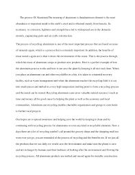 aluminum essay