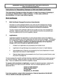 Requesting A Death Certificate Amendment Form For Alabama Death Certificate Fill Online