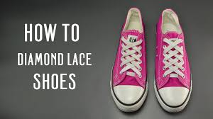 Shoelace Patterns Delectable How To Diamond Lace Shoes YouTube