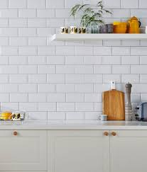 Painting Kitchen Wall Tiles Metro White Tile Topps Tiles Use With Black Grout Kitchen