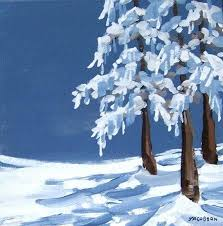 winter canvas paintings simple landscape hand painted window art holiday decoration barn snow scene wall tent