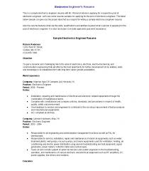 Sales Engineer Resume Sample