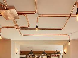copper track lighting exposed copper pipes copper track lighting uk