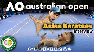 Australian Open 2021 | Aslan Karatsev Interview | GTL Tennis Podcast #119 -  YouTube