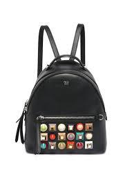 fendi multicolor studded leather mini backpack black women s new popular saks exclusives
