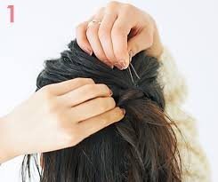 髪が少ないペタンコ髪のヘアアレンジダブルハーフアップで簡単