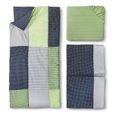 new perfectly preppy 3 pc baby crib bedding set trend lab navy lime gray chevron