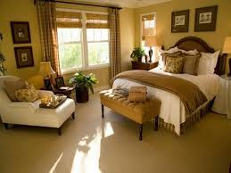 traditional bedroom ideas with elegant tufted bench and white chaise lounge chair
