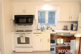 Painting Kitchen Cabinets 1   Before After