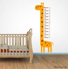 Wall Decal Size Chart Growth Chart Decal Animal Wall Decal Giraffe Height Chart