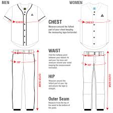 Baseball Pants Size Chart Baseball_softball Jog Athletics