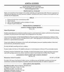 Psychology Sample Resumes School Psychologist Resume Serpto Carpentersdaughter Co