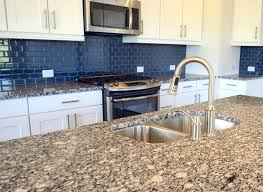 modern kitchen backsplash 2013. Blue Glass Tile Backsplash Modern Kitchen 2013
