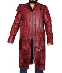 mazqoty trench coat men faux leather jacket star lord guardians of the galaxy chris pratt
