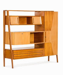 lot multifunctional cherrywood wall unit italy lot number starting bid auctioneer auctionata paddle 8 ag auction design of the century
