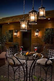 rustic outdoor lighting in porch with aspen light inspirations 1