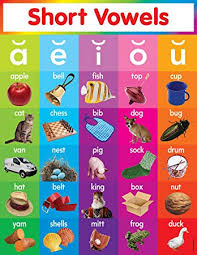 Scholastic Teachers Friend Short Vowels Chart Multiple Colors Tf2517