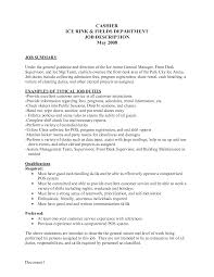 Resume Title For Cashier Mcdonalds Cashier Job Description