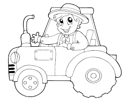 Tractor Printable Coloring Pages Farm Tractor Coloring Pages Tractor