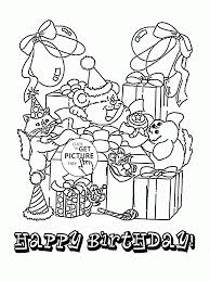 Birthday Fun Card Coloring Page For