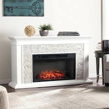 southern enterprises canyon heights faux stone electric fireplace corner tv stand stacked white