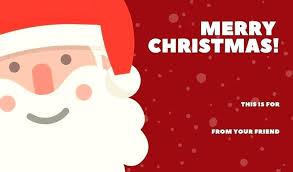Santa Card Template Atlasapp Co