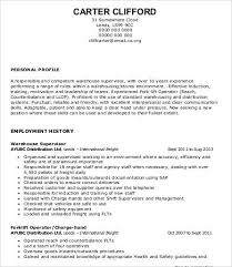 Warehouse Resume Templates Enchanting Warehouse Worker Resume 28 Free Sample Example Format Free