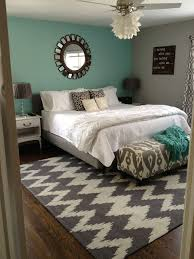 Teal White And Grey Bedroom ...