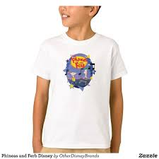 Zazzle Shirt Size Chart Phineas And Ferb Disney T Shirt Zazzle Com In 2019