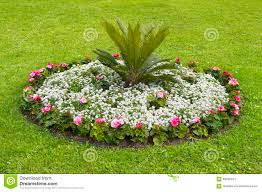 Small Round Flower Bed Design Round Flower Bed Stock Image Image Of Season Fresh 59030491