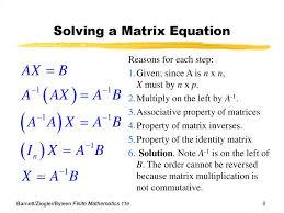 solving a matrix equation