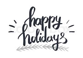 happy holidays black and white.  Holidays Happy Holidays Black Calligraphic Written By Hand Text On White Blackwhite  Festival Card In Flat Design Vector Colourless Illustration Of Merry Christmas  For Holidays Black And White T