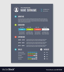 Resume Cv Template A4 Letter