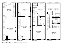 appealing brownstone row house floor plans beautiful historic design of luxury and