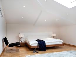 contemporary attic bedroom ideas displaying cool. modern attic bedroom design displaying white wall colors scheme and cool ceiling light fixtures decoration also contemporary ideas o