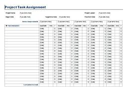 Project Task List Template Enchanting Project Task Assignment Template