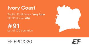 EF EPI 2020 – EF English Proficiency Index – <b>Ivory Coast</b>