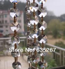 100m lot crystal garland 14mm octagonal glass crystal strands wedding decoration