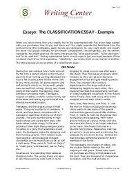Classification Essay 1 Explore Biology