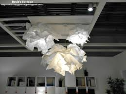 ikea paper ceiling light