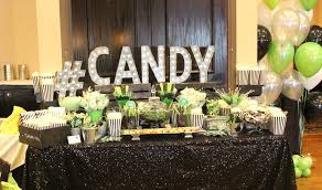 winter wonderland candy table that we made for a wedding with chocolate dipped strawberries