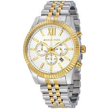 michael kors lexington chronograph white dial two tone men s watch michael kors lexington chronograph white dial two tone men s watch mk8344