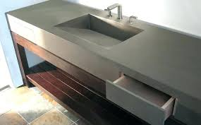 decoration how to make a concrete countertop or vanity with integral sink do pertaining to