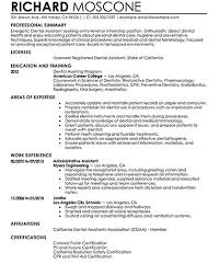 dental assistant resume samples by richard moscone - Writing .