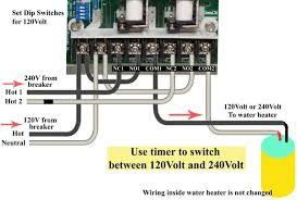 how to wire water heater for volts wire ge timer for 120 240 volts