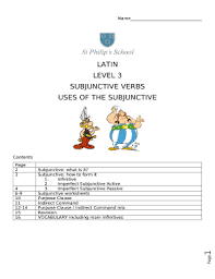 Subjunctive Verbs Doc Template Pdffiller